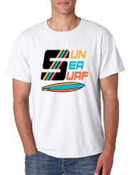 Men's T Shirt Sun Sea Surf Lover Summer Beachwear Outfit