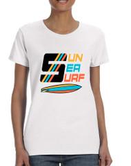 Women's T Shirt Sun Sea Surf Lover Summer Tee Beachwear