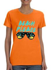 Women's T Shirt Beach Please Summer Vacation Beachwear