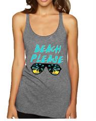 Women's Tank Top Beach Please Summer Vacation Beachwear