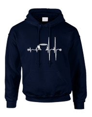 Men's Hoodie Coffee Heartbeat Love Coffee Addict Top
