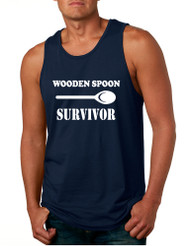 Men's Tank Top Wooden Spoon Survivor Funny Text Humor Top