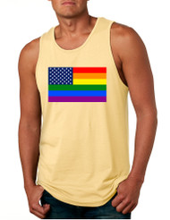 Men's Tank Top United States Gay Pride Flag Support Love Top