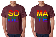 Set Of 2 Men's T Shirt Soul Mate Couple Gay Pride Love Shirts