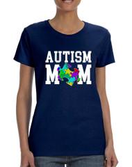 Women's T Shirt Autism Mom Autistic Awareness TShirt
