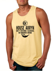 Men's Tank Top House Arryn Sky Diving School Trendy Humor