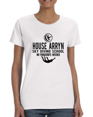 Women's T Shirt House Arryn Sky Diving School Trendy Tee