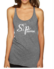 Women's Tank Top Sip Happens Wine Lovers Shirt Drink Top