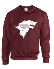 Adult Sweatshirt Winter Is Coming Cool Top Popular Sweatshirt