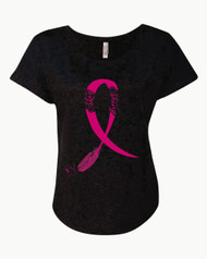 Stay Strong Breast Cancer T-Shirt Ladies Triblend Dolman