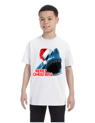 Kids Youth T Shirt Santa Jaws Merry Christmas Ugly Xmas Fun Tee