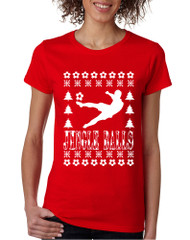 Women's T Shirt Jingle Balls Soccer Ugly Xmas Sport Fans Gift Idea