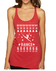 Women's Tank Top Dance Ugly Xmas Dancing Is Life Shirt Cute