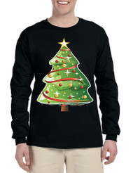 Men's Long Sleeve Christmas Tree Cute Holiday Gift Ugly Xmas