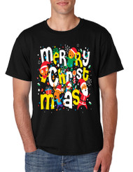 Men's T Shirt Merry Christmas Party Fireworks Ugly Xmas Gift