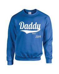 Man Sweatshirt Daddy Since 2014 New Dad Gift