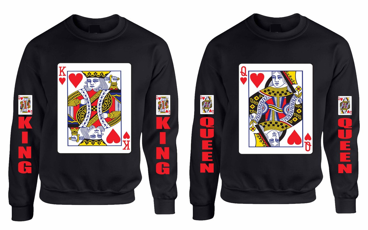 king and queen couples gifts sweatshirt custom ts. Black Bedroom Furniture Sets. Home Design Ideas