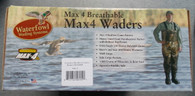 CADDIS NORTHERN GUIDE BREATHABLE BOOTFOOT MAX-4 WADER SZ 8