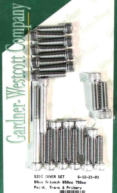 TRIUMPH 650 / 750 ENGINE COVER ALLEN SCREW KIT 1969-1979