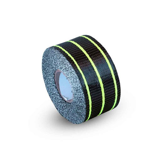Uni Carbon Fibre Tape: 65mm Neon Yellow