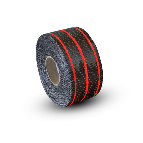 Uni Carbon Fibre Tape: 65mm Neon Red