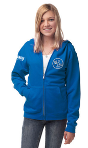 2015 bLU cRU Youth Zipper Hoody