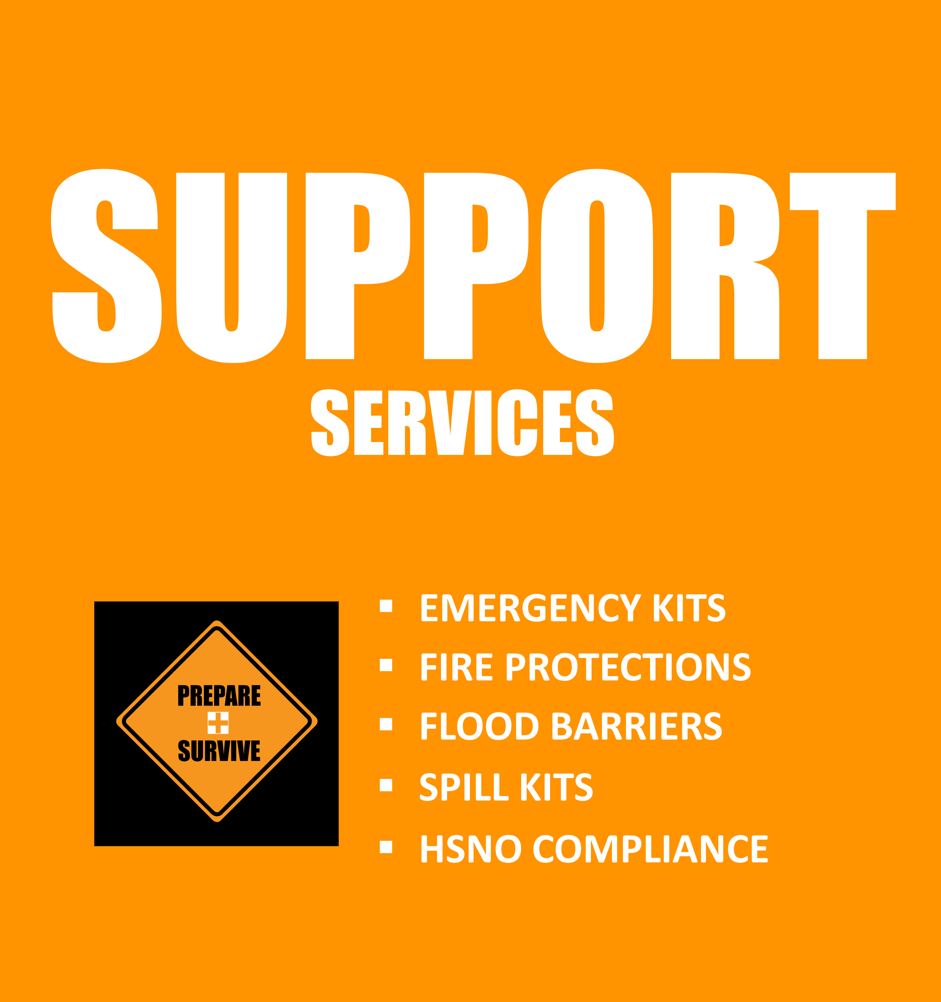 Emergency Kits, Fire Protections, Flood Barriers, Spill Kits, HSNO Compliance