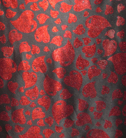 Red Heart on Black A