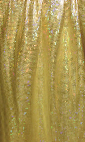 Silver Hologram on Yellow Spandex Fabric