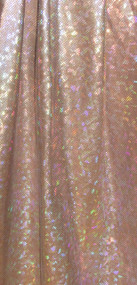 Silver Hologram on Brown Spandex Fabric