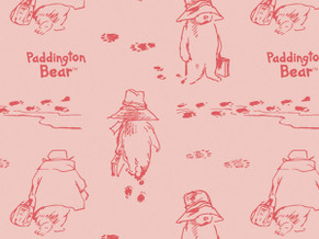 Paddington Bear Quilting Cotton 3