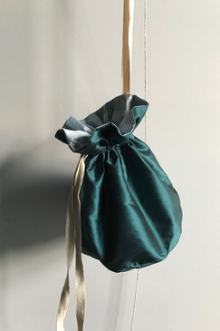 RCP Silk Drawstring Bag (green)