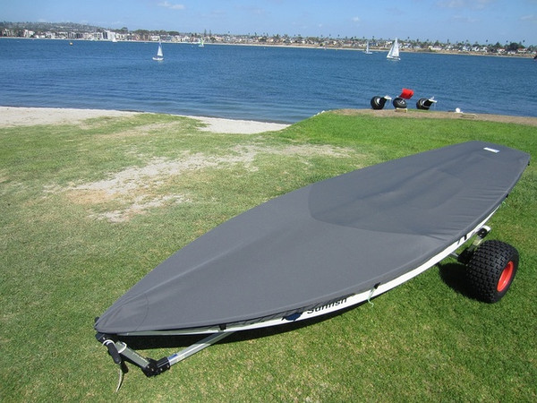Sunfish Sailboat Top Deck Cover Made in the USA Gray Sail Boat
