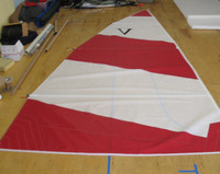 Venture 15 Banana Hull Color Dacron Main Sail