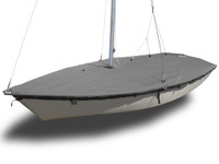 Impulse Dinghy (4m) Sailboat - Mast Up Flat Boat Cover