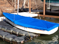 American 14.6 Sailboat Mooring Cover - Mast Up Flat Cover