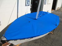 Rascal Sailboat Mooring Cover - Mast Up Flat Cover