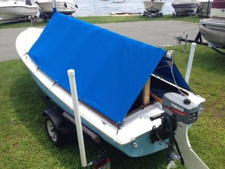 DaySailer Sailboat - Boat Boom Tent & DaySailer Sailboat - Boat Boom Tent - SLO Sail and Canvas