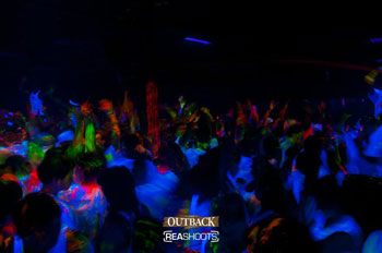UV Glow Face and Body Paint used at De-railed Paint Party