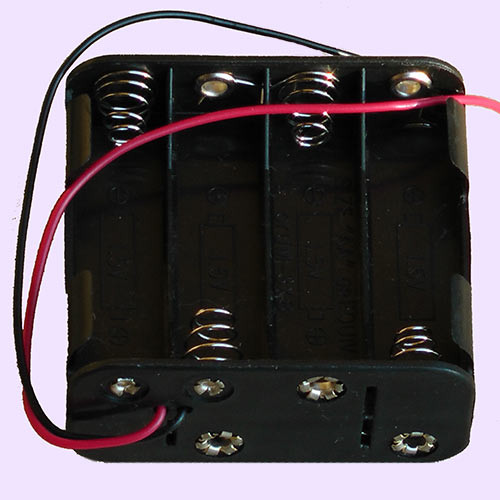 AA SIZE BATTERY HOLDER 8 CELL 12 VOLTS