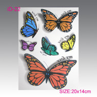 Butterflies 3D Temporary Tattoos
