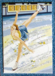 Glitter Paint By Numbers Ice Skater
