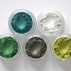 Clay Mineral Eye Shadow 5 pack-GREEN FOREST