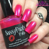 """""""Tease"""" Valentines '16 """"First Crush"""" Collection  Swatch by Polish and Paws/ Three coats shown w/top coat."""