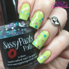 """""""Sprinkles"""" shown over """"Coconut Lime"""" both from the Spring '16 Ice Cream Social Collection.  Shown here in two coats and sealed by top coat by Polish and Paws."""