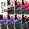 "Valentine's Day 16 ""First Crush"" Collection First Kiss, Kiss Me, Tease, Pucker Up (matte), Pucker Up (glossy top coat), Temptation over Pucker Up, Forbidden Love. See individual listings for more details on each polish.  Swatches by Polish and Paws"