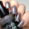 Celebrate, 3 coats with glossy top coat.  By CDBNails