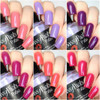 "SWAK Collection w/""Forever Yours"" on Top (Chameleon Shifty Shimmer Topper)  Swatches by CDB Nails"
