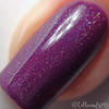 "Macro of ""Love Always"" Holographic Topper over ""Kiss Tell""  Swatch by CDB Nails"