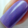 "Macro of ""Love Always"" Holographic Topper over ""Blow Me a Kiss""  Swatch by CDB Nails"